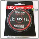 UD Clapton SS 316L + Kanthal A1 Wire (26ga+32ga) - клэптон нержавеющая сталь + кантал.