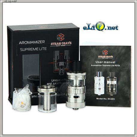 Steam Crave Aromamizer SupremeLite RDTA - 2ml+5ml, SS - обслуживаемый атомайзер-танк для дрипа. Аромамайзер.
