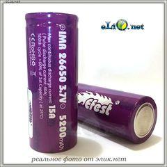 [15A / 40A] Efest IMR26650 5200mah (Purple) - Flat top - Высокотоковый аккумулятор