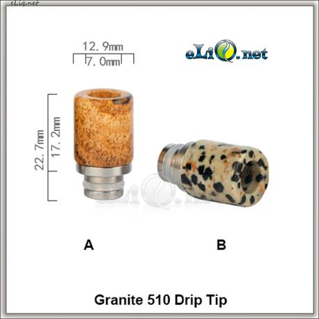 [510] Дрип-тип из камня и нержавеющей стали. Granite Drip Tip