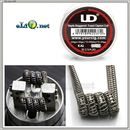 UD Kanthal A1 Staple Staggered Fuse Clapton Coil (26ga+32ga)*2+Ribbon*2+34ga. Намотка. Спираль.