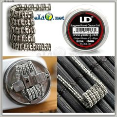UD SS 316L Staggered Fuse Clapton Coil [26Ga+Ribbon]*2+32Ga. Намотка. Спираль.