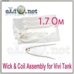 2шт 1.7 ОМ (фитиль и спираль) Vivi Tank Wick & Coil Assembly