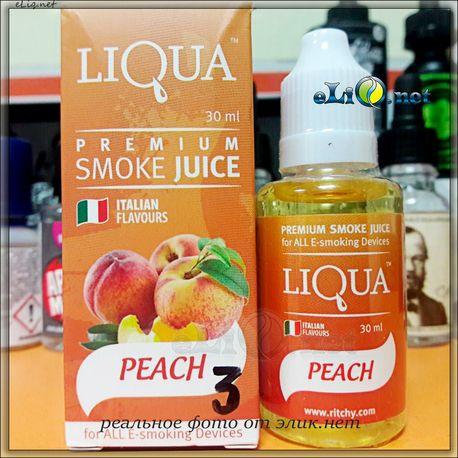 30 мл LIQUA Персик - жидкость для заправки электронных сигарет. Итальянские ароматизаторы. Оригинал.