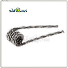 Kanthal A1 Clapton Coil (24ga+30ga) 0.5 Ом. Намотка. Спираль из клептон кантала.