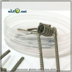 Half Staggered Fused Clapton Coil. 0.27 Ом. Намотка. Фьюзд клептон спираль из кантала.