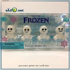 Набор ластиков - снеговиков. Храброе сердце. Дисней. Frozen. Disney.