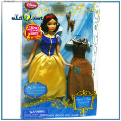 УЦЕНКА! Поющая кукла принцесса Белоснежка с платьем и олененком (Disney). Игрушка Дисней оригинал США.