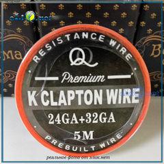 24ga + 32ga Premium Clapton Kanthal Wire. Клэптон проволока в катушке 5м.