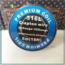 26ga + 32ga Premium Clapton SS316 Wire. Клэптон проволока в катушке 5м.