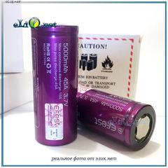[45А] Efest 26650 5000mah (Purple) - Flat top - Высокотоковый аккумулятор