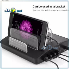 Док-станция, зарядка, спикер. Super Bass Bluetooth Speaker Dock with 4-Port Faster Charging Station Dock C007