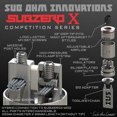 25 мм Subzero X RDA Sub Ohm Innovations - обслуживаемый атомайзер, дрипка, оригинал. SZX