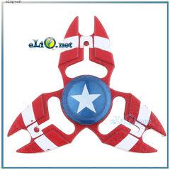Металлический спиннер Капитан Америка. Captain America Hand Spinner Fidget Toy