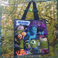 Сумка с карманом Университет монстров. Monsters Reusable Tote. Дисней оригинал из США.  Monsters, Inc, Disney