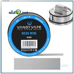 5ft Vandyvape Ni80 Mesh Wire 100mesh, сетка из нихромовой проволоки, 1.52 метра.
