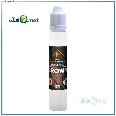 Brown / Tobacco gourmet жидкость для заправки электронных сигарет AlpLiq. Франция. Браун