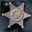Металлический спиннер значек звезда Шериф Hand Spinner Sheriff Fidget Toy