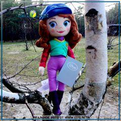 Плюшевая кукла София Прекрасная в одежде для верховой езды. Sofia The First Disney. Дисней оригинал