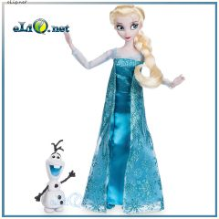 УЦЕНКА! Поющая кукла - принцесса Эльза с Олафом и светящейся снежинкой. Frozen Disney. Холодное сердце Дисней оригинал США