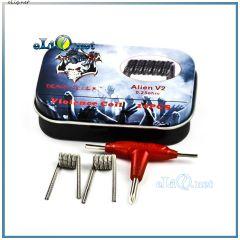 10pcs Demon Killer Alien V2 Prebuilt Coil (26ga*3 kanthal A1 +30ga 316L) - Готовые спирали