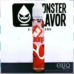 Monster Flavor Bunister 30мл - жидкость для заправки электронных сигарет. Украина. Банистер, клубничный чизкейк.