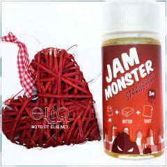 100 мл Jam Monster Strawberry - жидкость для заправки электронных сигарет. Джем Монстр Клубничный