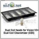 [Vision] Испарители для V3+ Dual Coil (CE5)  Разборной, с двумя спиралями