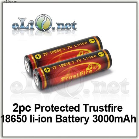 18650 3000mAh Trustfire Protected  Rechargeable Li-ion Battery