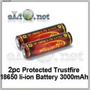 [18650] 3000mAh Trustfire Protected  Rechargeable Li-ion Battery