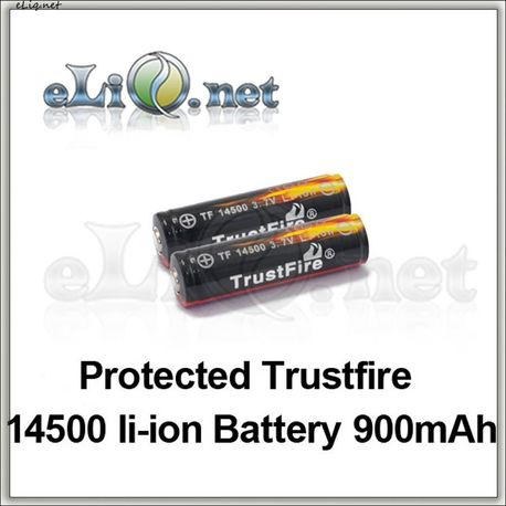 14500 900mAh  Trustfire Protected Rechargeable Li-ion Battery
