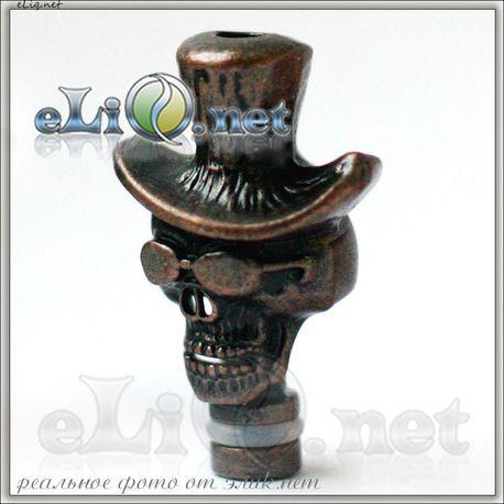 Desperado - Металлический дриптип Череп в шляпе