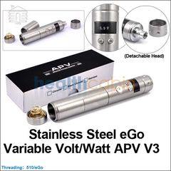 Vamo V3 (Stainless Steel) eGo Variable Volt/Watt APV V3 (Detachable Head)