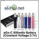 650 mAh (3.7v) eGo / eGo-T / eGo-C Battery - батарейка.