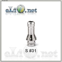 S 31 Round top (510) Stainless Steel Drip Tip - стальной дрип-тип.