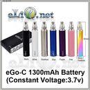 1300mAh (3.7v) eGo / eGo-T / eGo-C Battery - батарейка