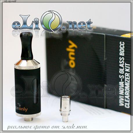 [VapeOnly] 3.5ml  VIVI NOVA-S Glass BDCC стеклянный двуспиральный клиромайзер с нижним расположением спиралей.