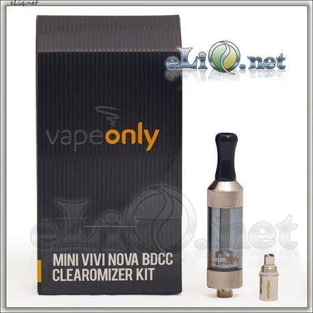 [VapeOnly] 2ml Mini VIVI NOVA Glass BDCC стеклянный двуспиральный клиромайзер с нижним расположением спиралей.