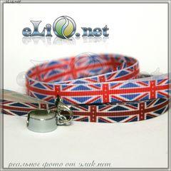Британский флаг. Шнурок для ношения электронной сигареты на шее.  Для Ego-T/ Ego-C/ Ego-W/ Ego-D / ECHO
