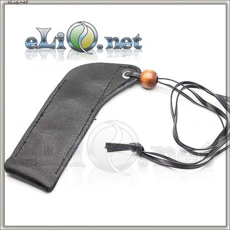 Кожаный чехол с бусинкой для ношения электронной сигареты eGo на шее