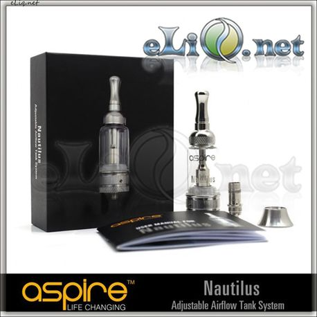 5ml Aspire Nautilus Adjustable Airflow BDCC Pyrex Glass