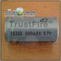 [18350] Trustfire 900mAh 3.7V rechargeable Li-Ion - литий-ионный аккумулятор