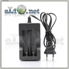 Двухслотовое зарядное устройство для 18650 / 16650 аккумуляторов. Китай