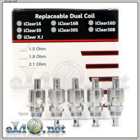 [Innokin] iClear X.I Pyrex BDCC  Разборной стклянный двуспиральный клиромайзер - танк с нижними спиралями