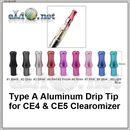 [2] Алюминиевый круглый дрип-тип/ мундштук для СE4, СЕ5 и тп.