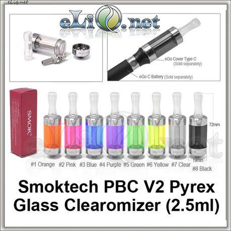 [Smoktech] PBC V2 - 2.5мл Purex Glass BCC стеклянный разборной клиромайзер с нижним расположением спирали.