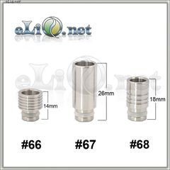 [510] Тип S66 / S67 / S68. Stainless Steel  Drip Tip - дрип-тип / мундштук из нержавеющей стали