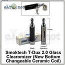 [Smoktech] T-Dux 2.0 Glass (New BCC Ceramic) стеклянный разборной клиромайзер с нижней керамической спиралью
