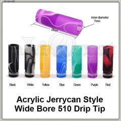 [510] Acrylic Jerrycan Style. Широкий акриловый дрип-тип.