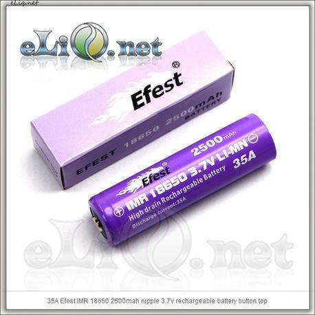 Efest IMR 18650 2500mah with button top [35A] Высокотоковый аккумулятор